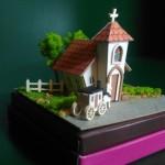 【ペーパークラフト】みにちゅあーとMini 小さな教会 制作風景